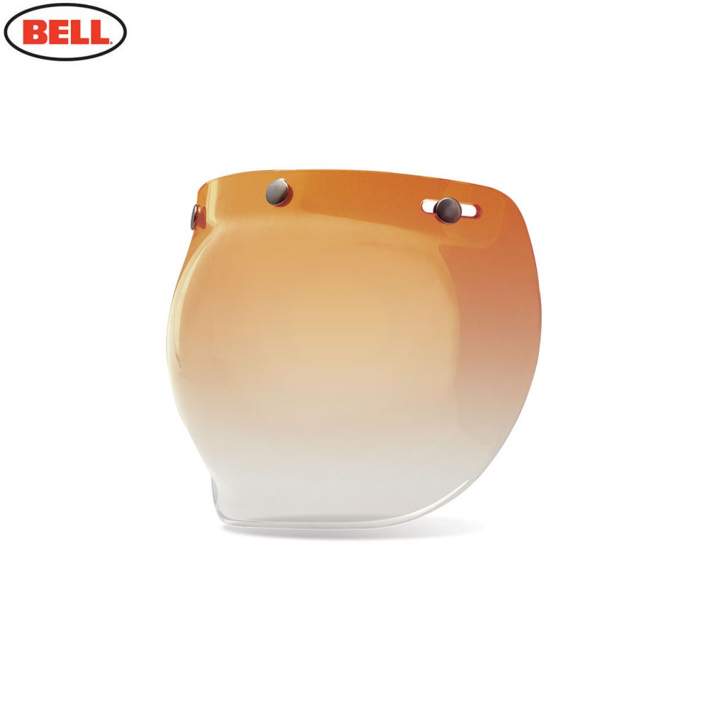 Bell Replacement Custom 500 3-Snap Bubble Shield Amber Gradient