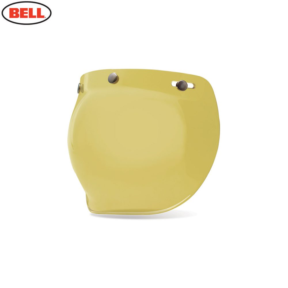 Bell Replacement Custom 500 3-Snap Bubble Shield Yellow