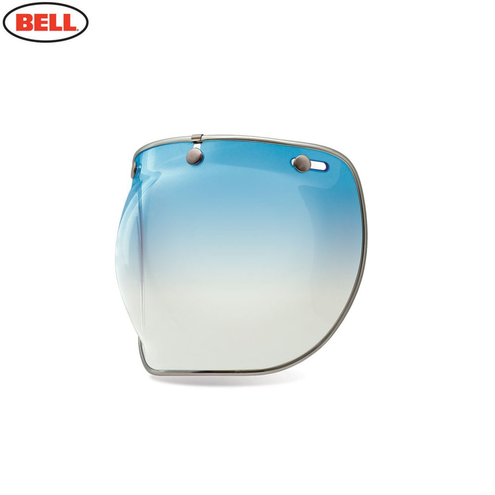 Bell Replacement Custom 500 3-Snap Bubble Deluxe Shield Ice Blue Gradient