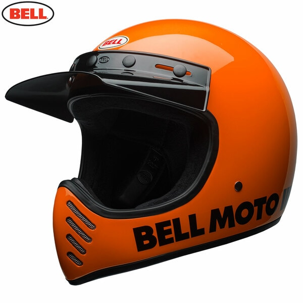 Bell 2021 Cruiser Moto 3 Adult Helmet (Classic Flo Orange)