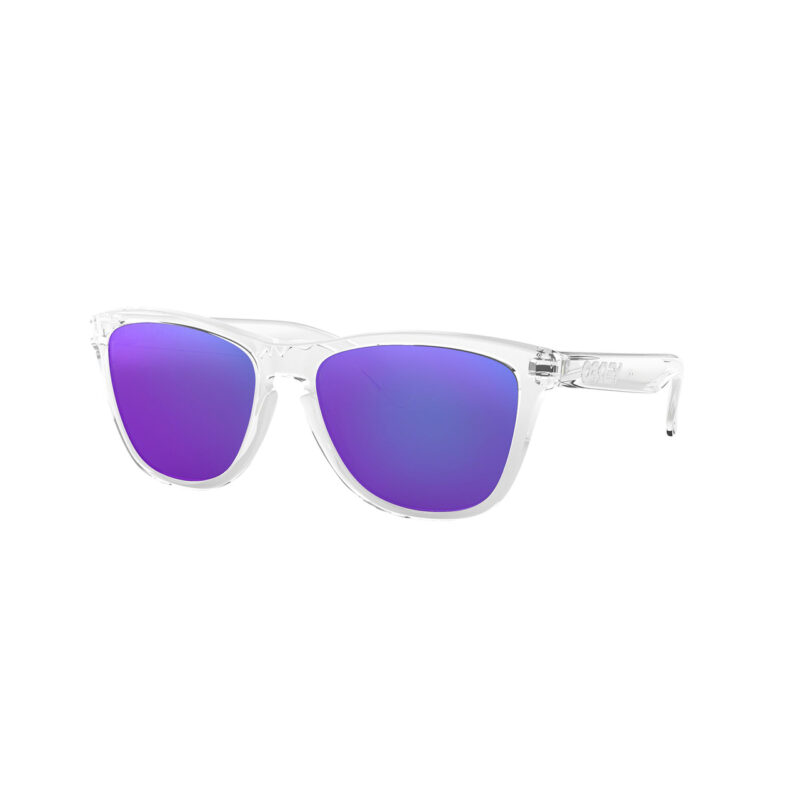 Oakley Frogskins Sunglasses Adult (Polished Clear) Violet Iridium Lens