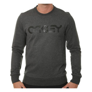 Oakley Casual 018 Adult Lifestyle Hoodie (B1B Crew Blackout Heather)