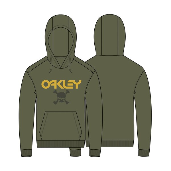 Oakley Casual TC Skull Hoodie (New Dark Brush)